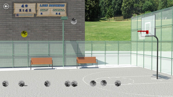 Customize your game play with different balls and courts