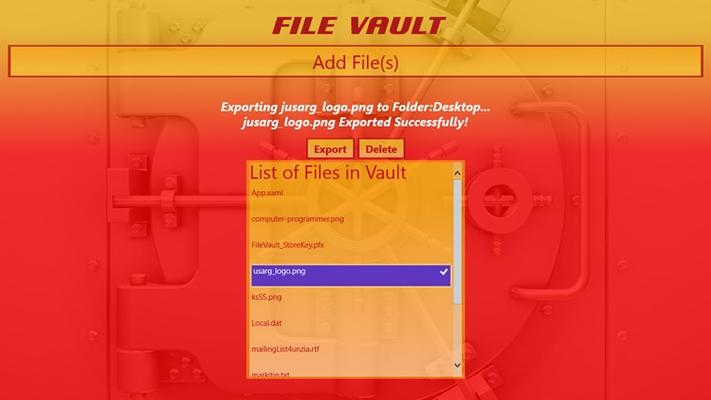 Export Files from Vault