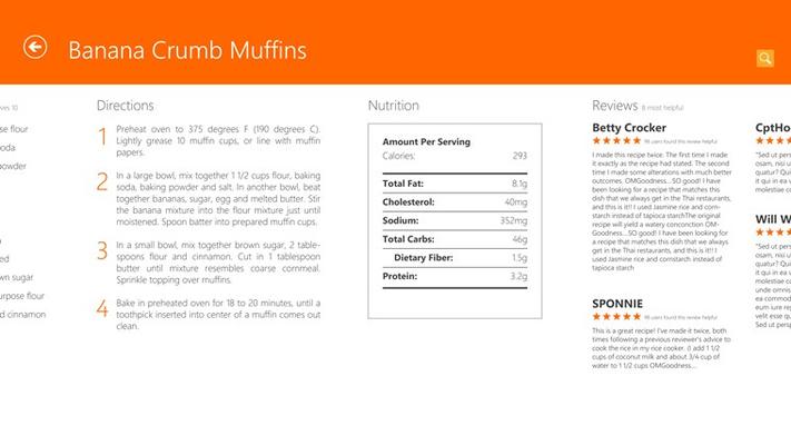 Allrecipes for Windows 8