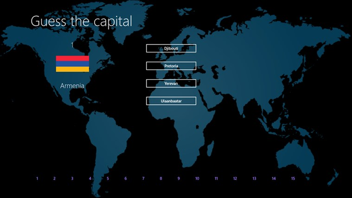 Guess the capital for Windows 8