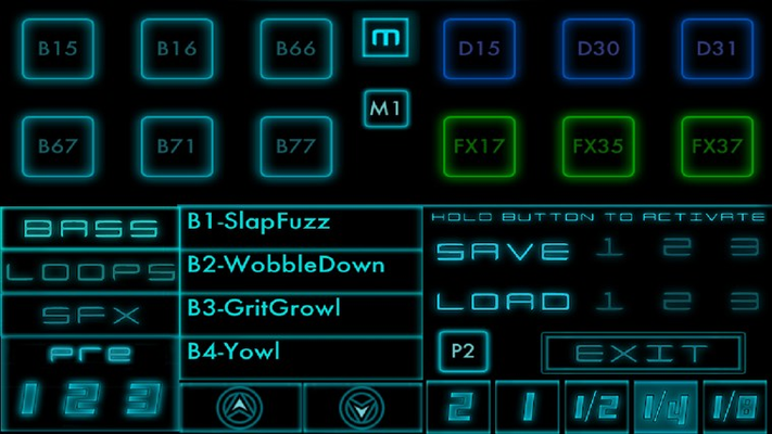 The edit screen allow sound pad volume and sample  customisation