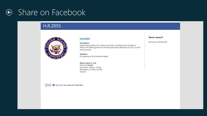 """Virtual ballot"" – dynamically generated Facebook page."