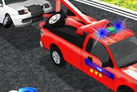 Police Tow Truck Transporter - City Car Lift Duty