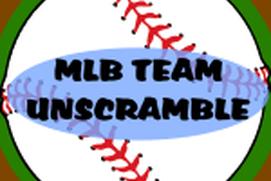 MLB Team Unscramble